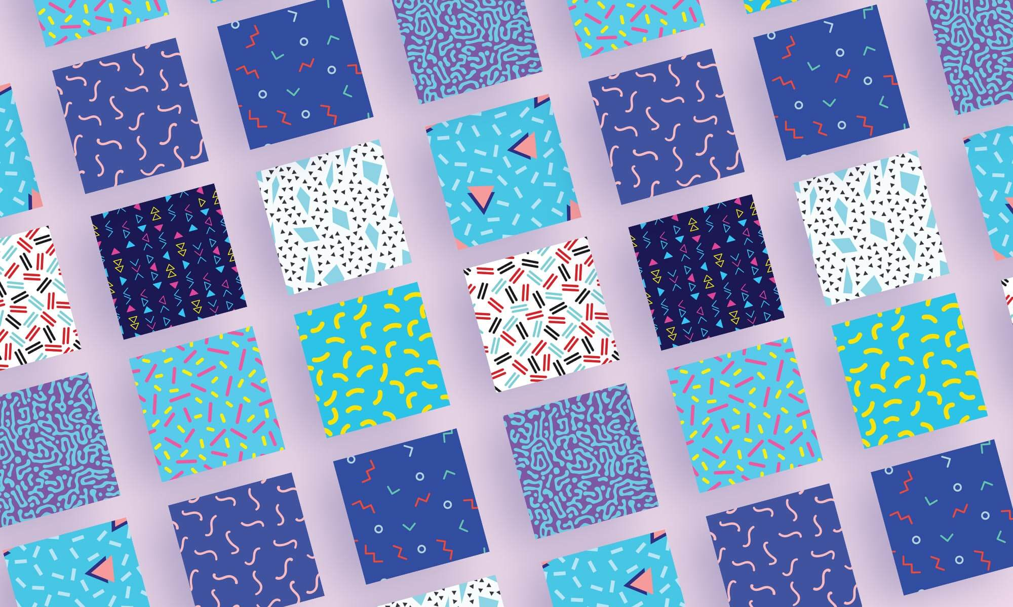 Memphis Style Patterns