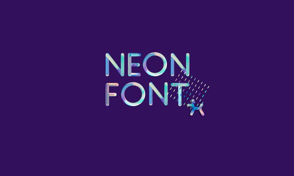 Free neon font armory