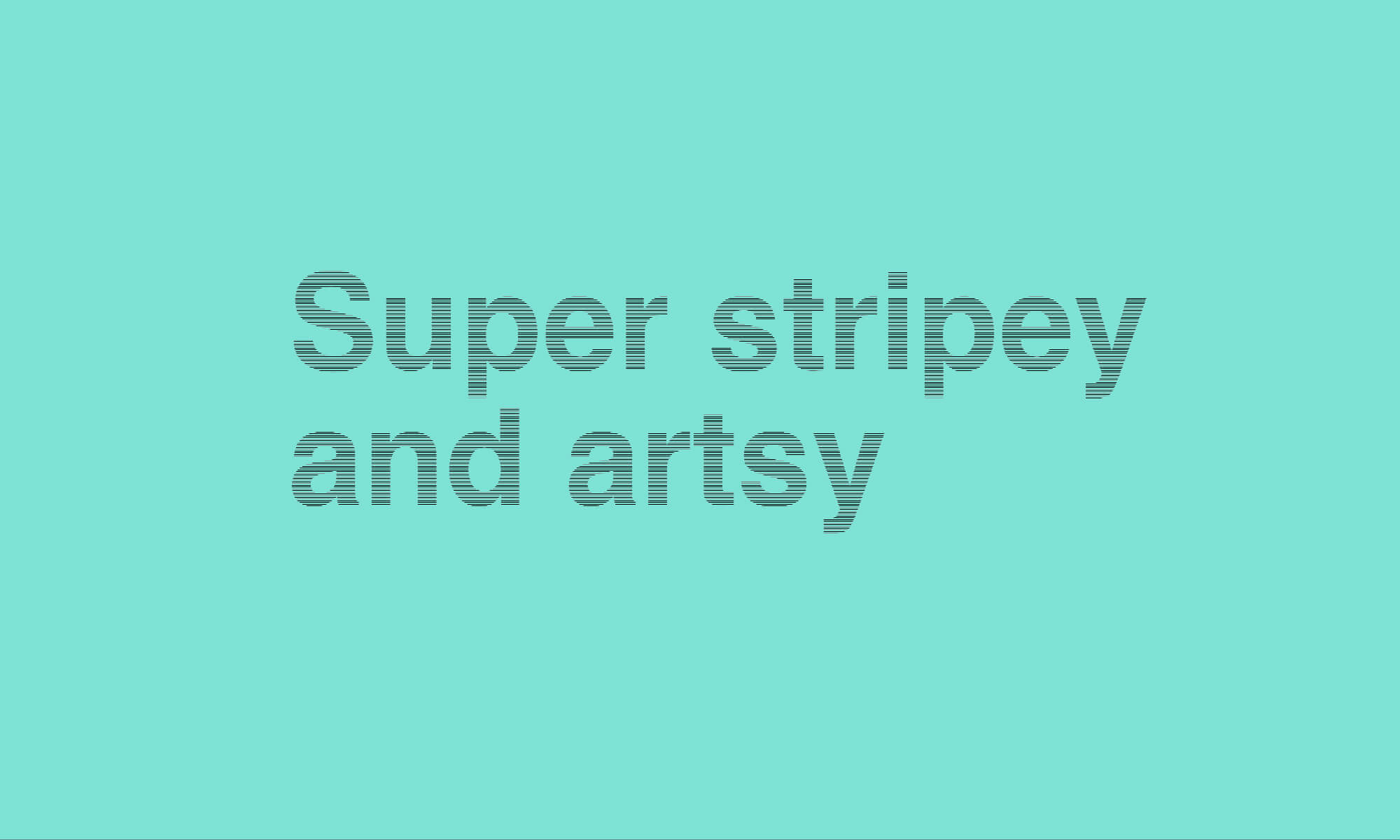 Stripey text with CSS blending