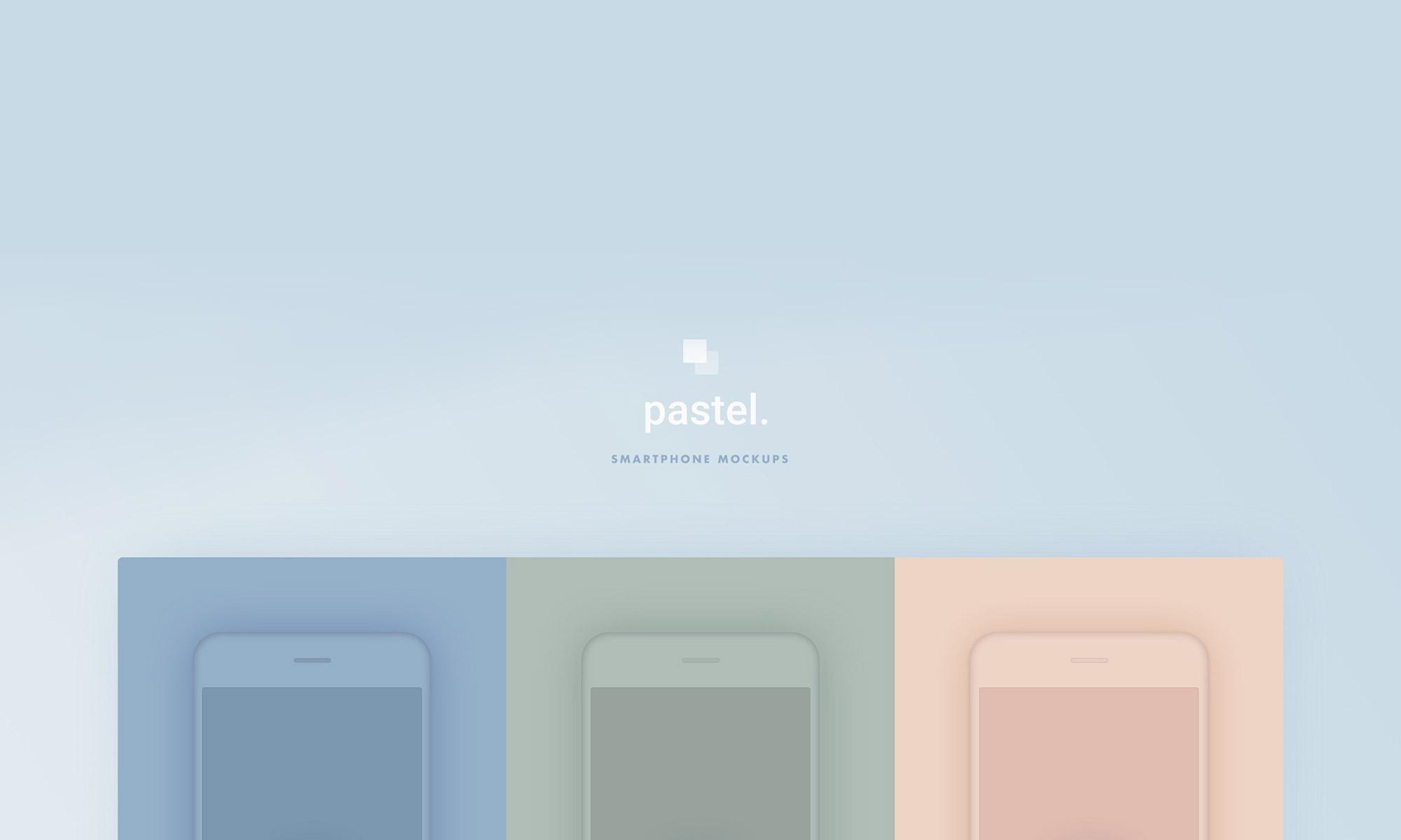 Pastel. – Smartphone mockups