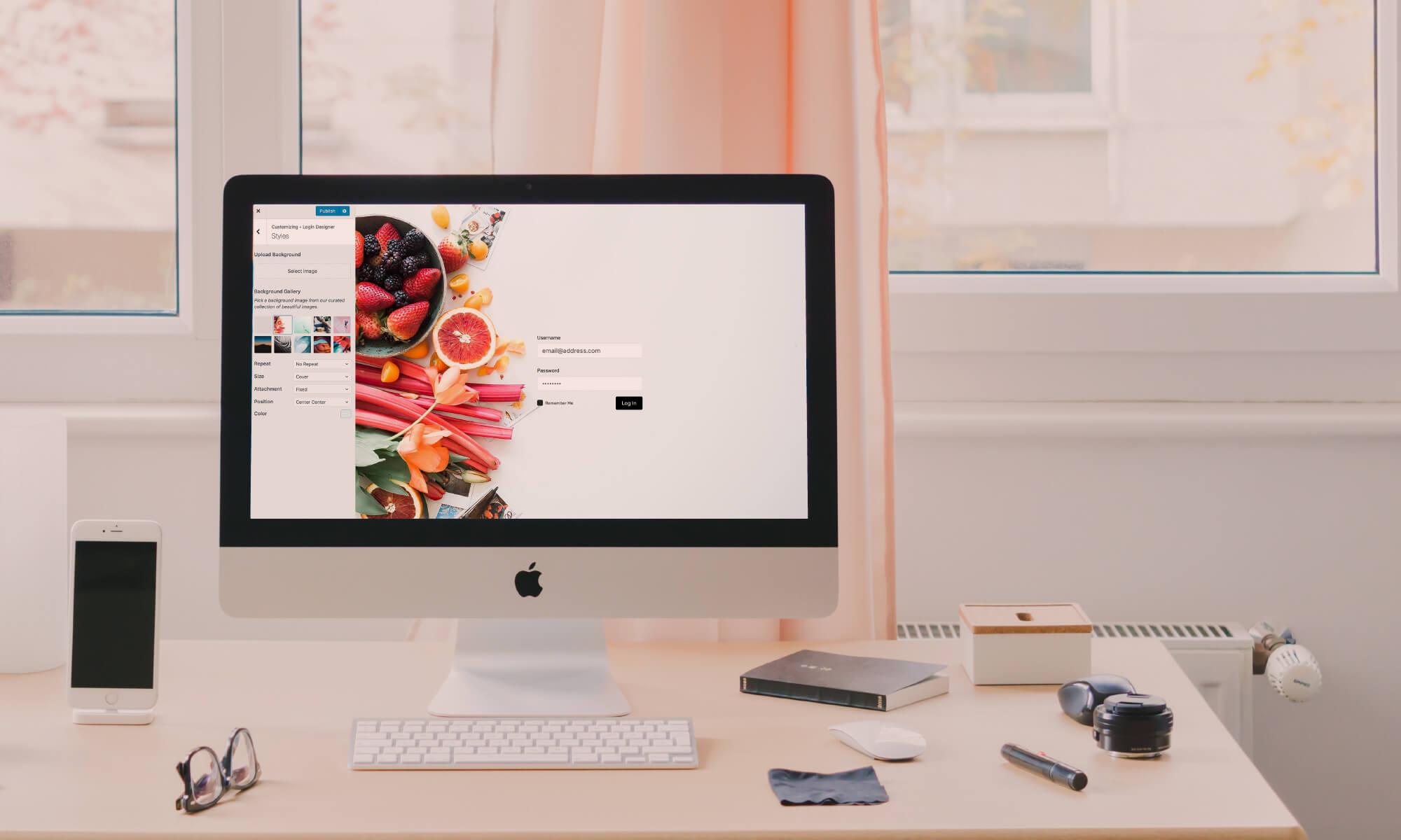 WordPress Login Designer