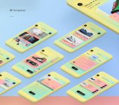 Colorful Free Mobile UI Kit