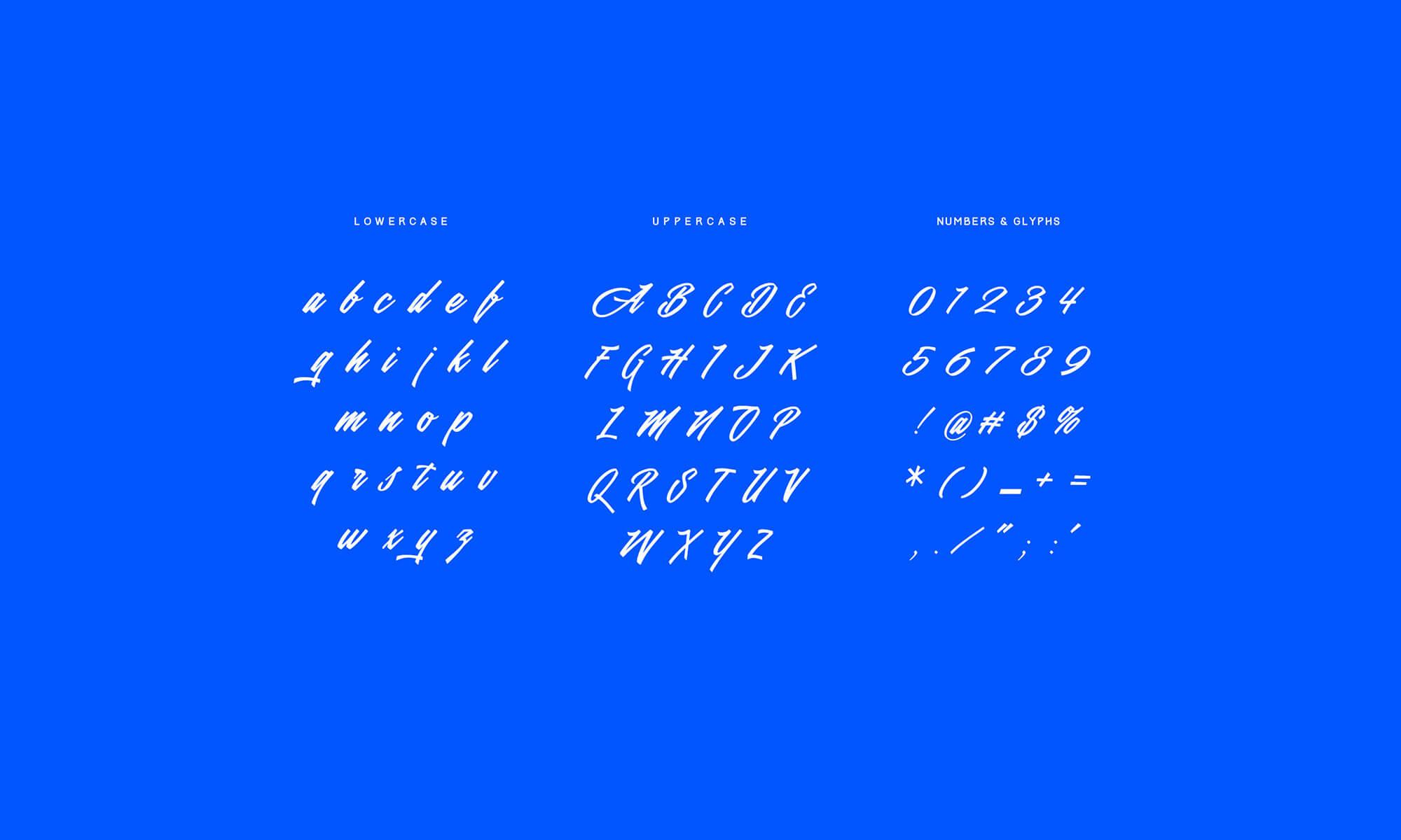 Valencia Calligraphy Typeface