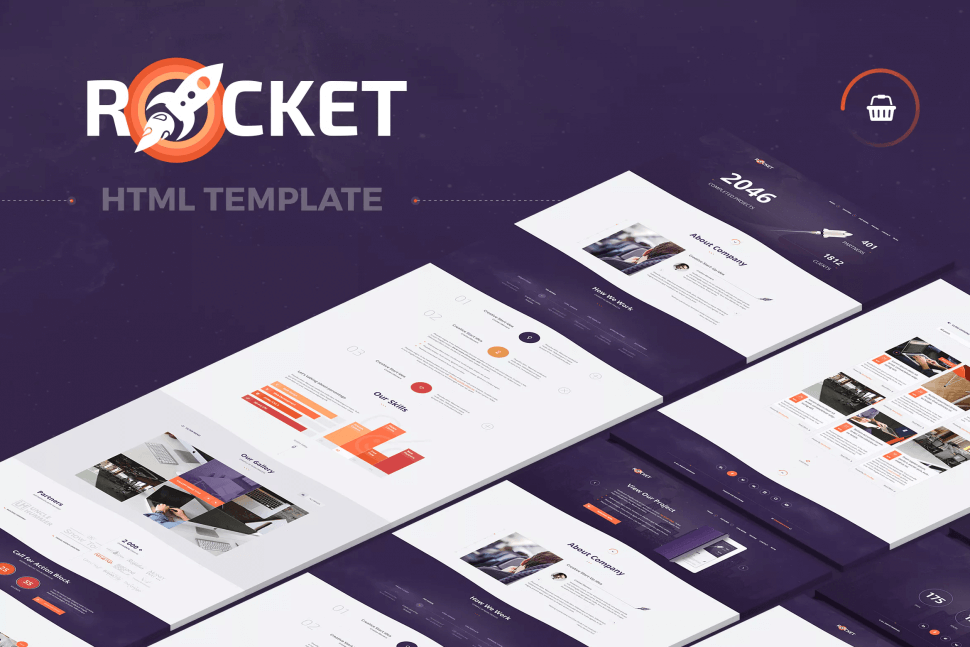 Rocket – Creative Multipurpose HTML Template