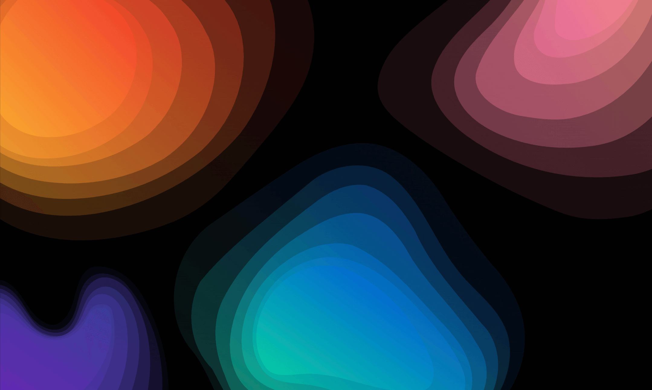 Gradient Topographic Animations