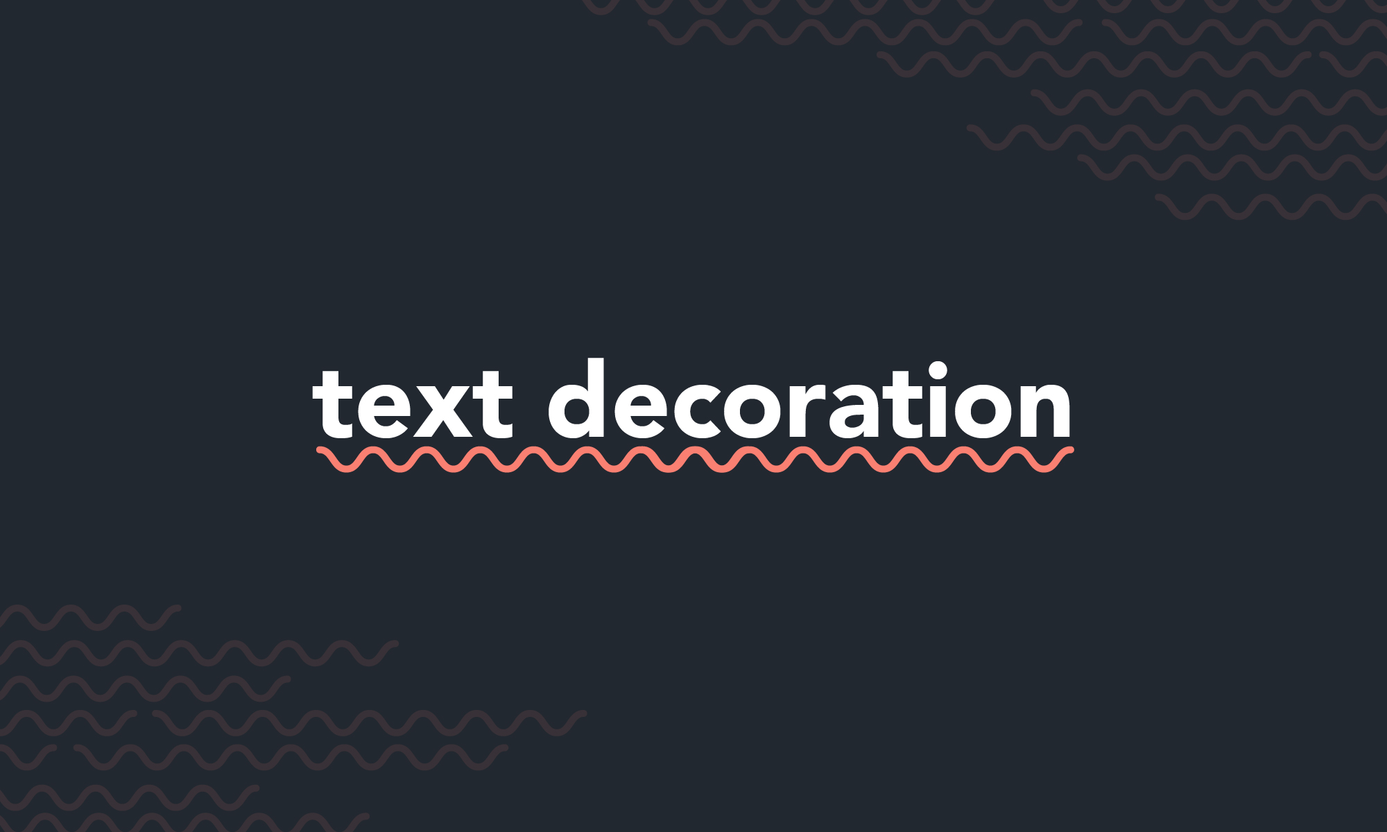 Fancy Text Decoration