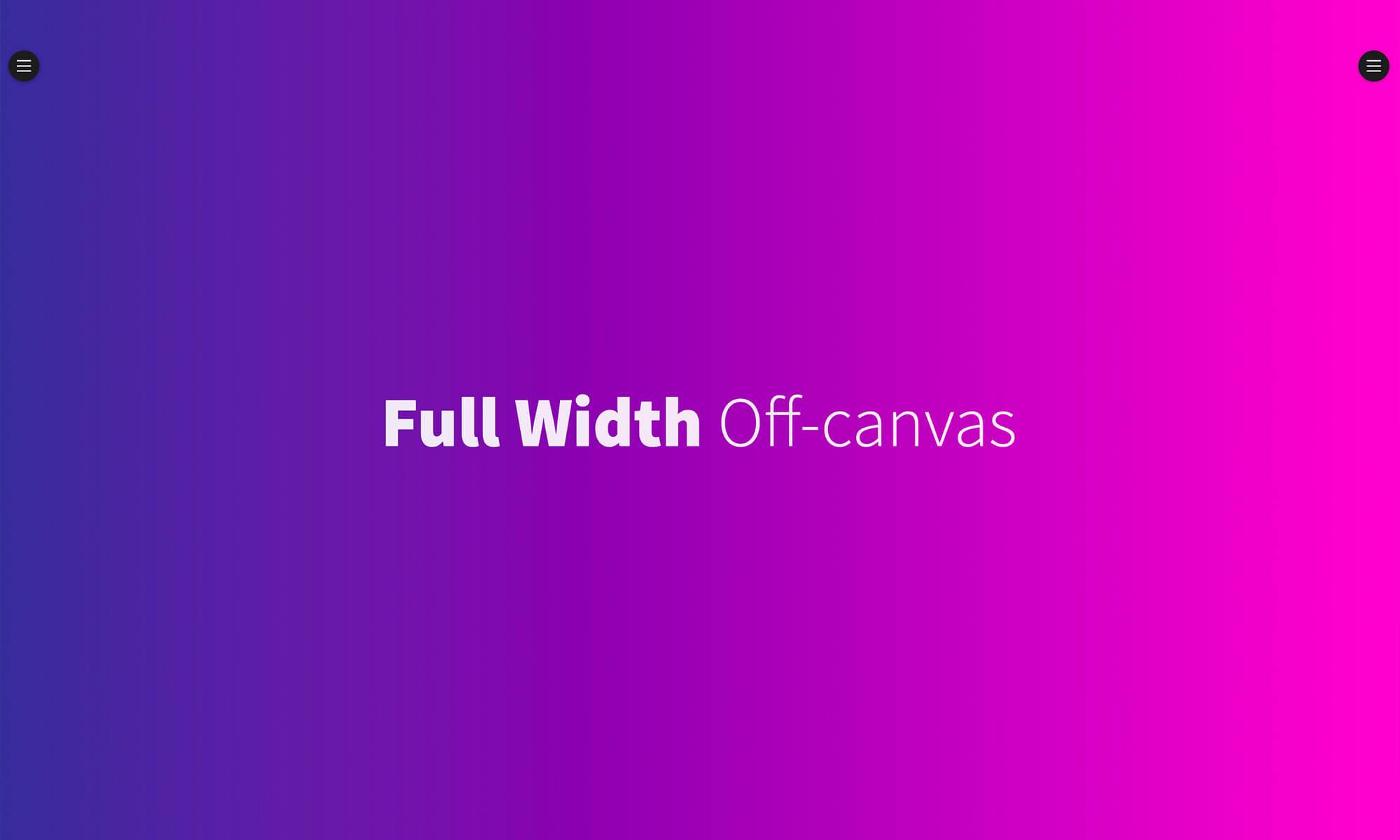 Full Width Off-Canvas Menu