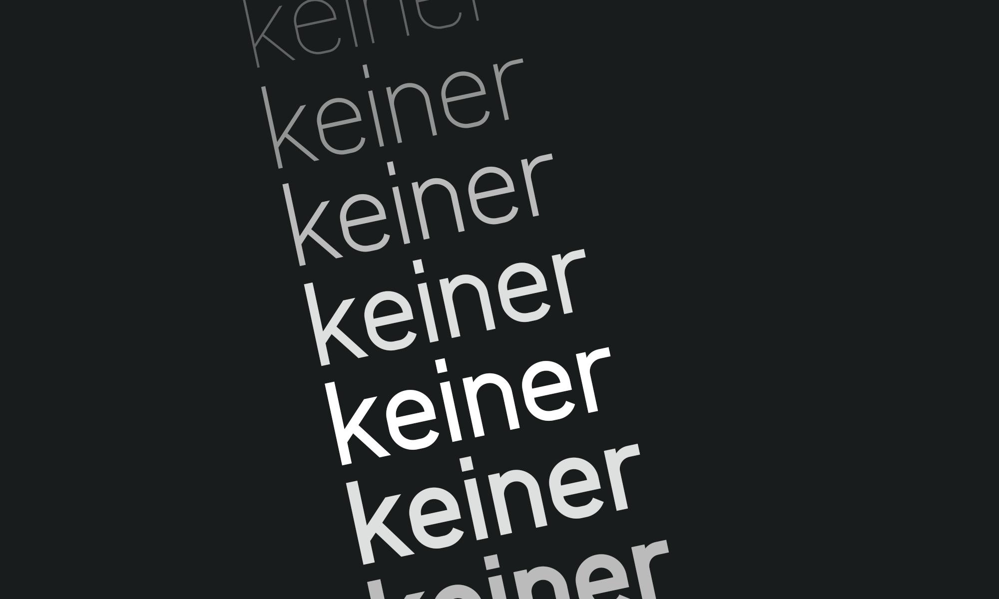 Keiner Typeface