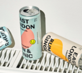 gin cans branded