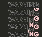 warning text